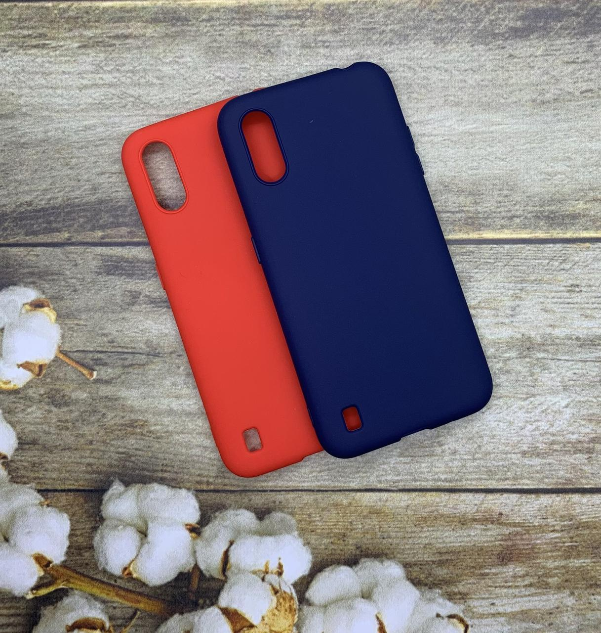 Чехол на Samsung A01 2020 (A015F) матовый цветной силиконовый  ультратонкий бампер/ накладка