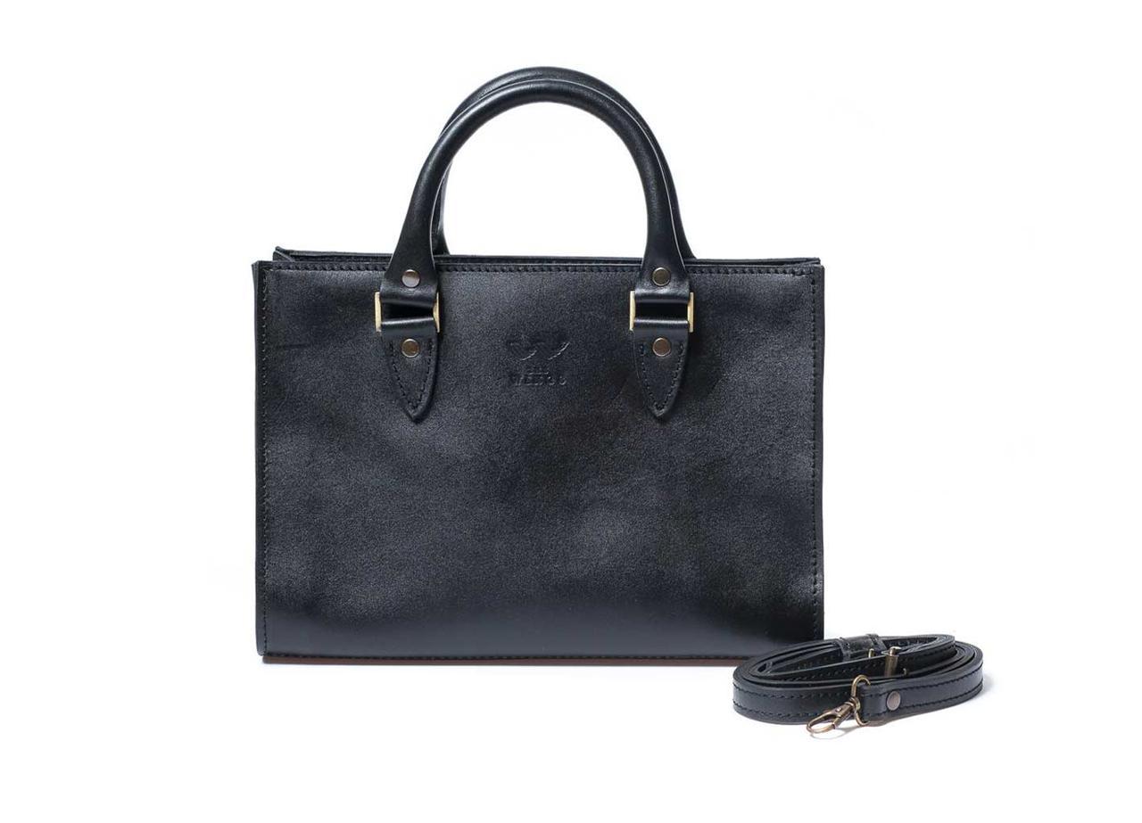 Жіноча шкіряна сумка Fancy чорна