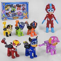 Щенячий Патруль набор игрушек героев He Toys 7 подвижных фигурок (34394)