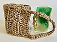 Джутовая мочалка натуральная XL длинная, экологичная губка, мочалка з джуту натуральна органічна, екологічна, фото 5