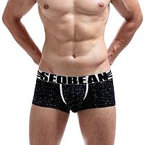 Черные мужские боксеры  Seobean, трусы, мини-шорты, фото 2