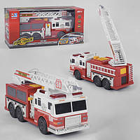 Пожарная машина игрушка детская пускает воду из шланга Linda Спецтехника со светозвуковыми эффектами Красная