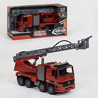 Пожарная машина игрушка брызгает водой инерционная Xiong Yuan Спецтехника со светом и звуком Красная (34455)