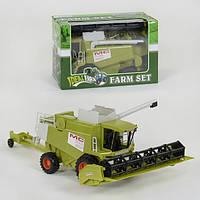 Комбайн игрушка детская Toys Catena инерционный большой Зеленый (34508)