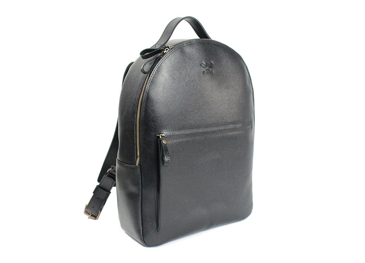 Кожаный рюкзак Groove L черный сафьян