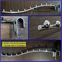 Флейта  Кронштейн  Торговый  9 Шариков Волна Хромированный  на Перемычку  30 х 15 мм    Китай