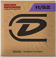 Струны для 6 струнной гитары DUNLOP DAB1152 80/20 BRONZE (11-52)