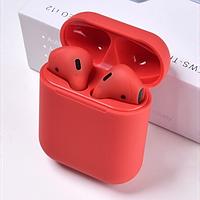 Беспроводные наушники HBQ i12 Bluetooth TWS сенсорные Красные