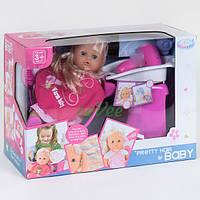 Пупс с волосами Warm Baby с парикмахерским набором фен на батарейках игрушка для девочки (34944)