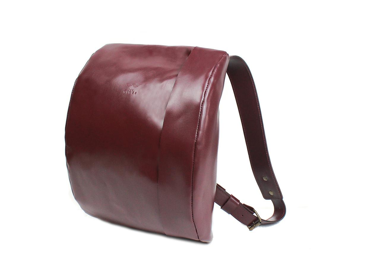 Кожаный рюкзак Cloud S бордовый