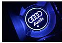 Подсветка подстаканника в авто RGB с логотипом автомобиля AUDI/ Ауди  комплект 2 штуки, фото 9