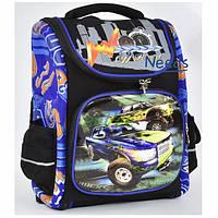 Школьный рюкзак для мальчика ортопедический ранец 1 2 3 класс каркасный Черный (67814)