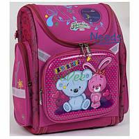 Школьный рюкзак для девочки ортопедический каркасный ранец 1 2 3 класс Розовый (76931)
