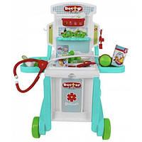 Набор врача детский игровой Xiong Cheng Тележка доктора с чемоданом и медицинскими инструментами (35827)