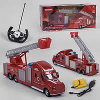 Пожарная машина на пульте управления игрушка детская Syrcar со светом и звуком на аккумуляторе Красная (35941)