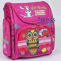 Школьный рюкзак для девочки ортопедический каркасный ранец 1 2 3 класс Розовый (78450)
