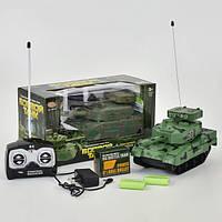 Танк на радиоуправлении игрушка детская Play Smart стреляет пулями на аккумуляторе Хаки (36175)