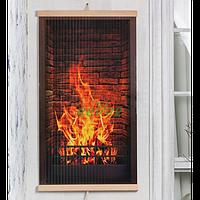 Настенный обогреватель картина Трио Камин 400 Вт инфракрасный электрический пленочный карбоновый