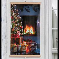 Настенный обогреватель картина Трио Новый Год 400 Вт инфракрасный электрический пленочный карбоновый
