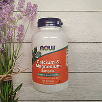 Now Foods Calcium & Magnesium 120 soft , кальций магний Д3 цинк нау, фото 1