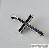 Серебряный мужской крестик с распятием байкерский кулон подвеска, фото 5