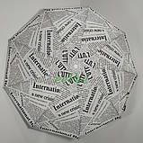 Жіночий напівавтомат парасолька складаний Газетні Статті 9 спиць антиветер Білий Max 3050, фото 2