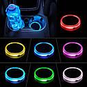 Подсветка подстаканника в авто RGB (7 цветов) автомобильный подстаканник в комплекте 2 штуки, фото 2