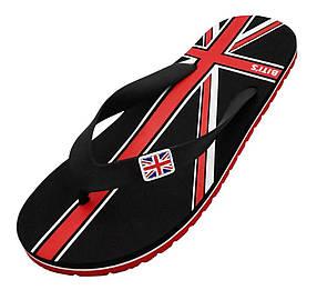 Вьетнамки Bitis с флагом Великобритании черного цвета 45