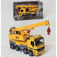Кран игрушка детская инерционная Xiong Yuan машинка со светом и звуком большой 37 см на батарейках Желтый 2154