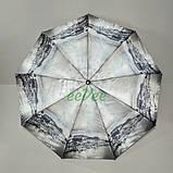 Зонт складаний жіночий Calm Rain 483-11 напівавтомат на 9 спиць Сірий, фото 2