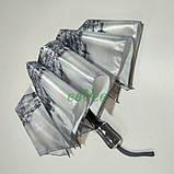 Зонт складаний жіночий Calm Rain 483-11 напівавтомат на 9 спиць Сірий, фото 3