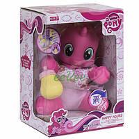 Пони игрушка детская интерактивная Lovely Pony мягкотелый со светом и звуком Розовый (7956)