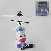 Летающий Пони-единорог игрушка детская King Player на сенсорном управлении (7976)