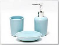 Набор аксессуаров для ванной светло-голубой, 3 ед.