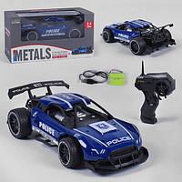 Полицейская машинка на радиоуправлении игрушка детская Sulong Police 911 гоночная металлическая Синяя (37987)