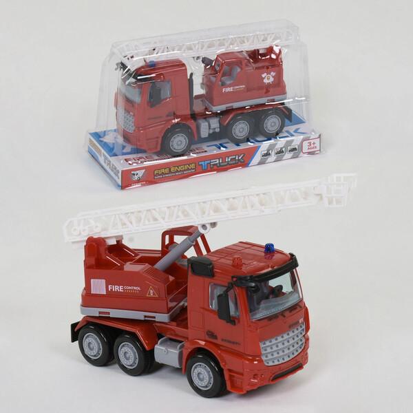 Іграшкова пожежна машинка дитяча зі сходами Червоний (38161)