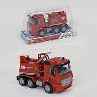 Пожарная машинка детская игрушка с лестницей Fire Engine Truck с подвижными элементами Красная (38161)