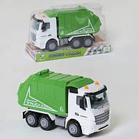 Мусоровоз машинка детская игрушка спецтехника инерционная Зеленая (8168)