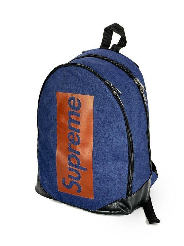 Рюкзак чоловічий синього кольору з червоним логотипом