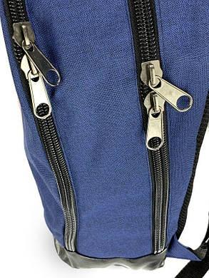Рюкзак чоловічий синього кольору з червоним логотипом, фото 2