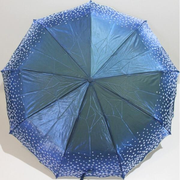 Зонт Хамелеон жіночий автомат складаний 9 спиць в подарунковій коробці Блакитний красивий Yuzont 2311