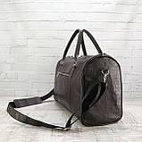 Дорожная сумка louis коричневая из натуральной кожи kayman, фото 3