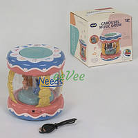 Развивающая обучающая игрушка Aiyingle 855 Барабан-карусель со световыми эффектами