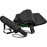 Чоловічий парасольку 10 спиць антиветер складаний автомат міцний якісний Чорний Срібний Дощ SD1, фото 5