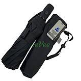 Чоловічий парасольку 10 спиць антиветер складаний автомат міцний якісний Чорний Срібний Дощ SD1, фото 6