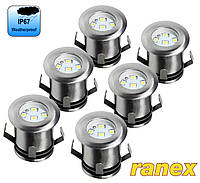 Комплект герметичных ландшафтных светодиодных светильников круглых Ranex LED Emma, IP67