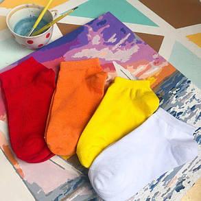 Носки короткие базовые от Sunny Focks. Цвет: белый, фото 2