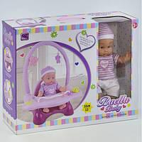 Пупс с игровым центром Baella функциональный 33 см игрушка кукла для девочки (24797)
