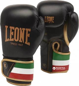 Боксерские перчатки Leone Italy Black