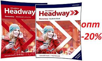 Английский язык / Headway / Student's+Workbook. Учебник+Тетрадь (комплект), Elementary / Oxford